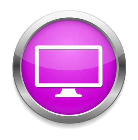 widescreen: Widescreen  icon. Television  symbol