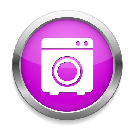 washer: washer button Illustration