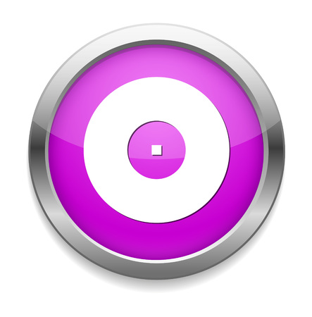 compact disk: Compact disk icon Cd or DVD symbol Illustration