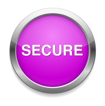 secure: secure button Illustration