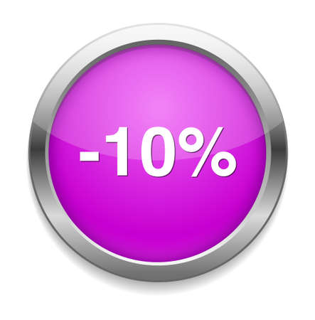 10: 10 percent off button Illustration