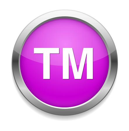 trademark: trademark button Illustration