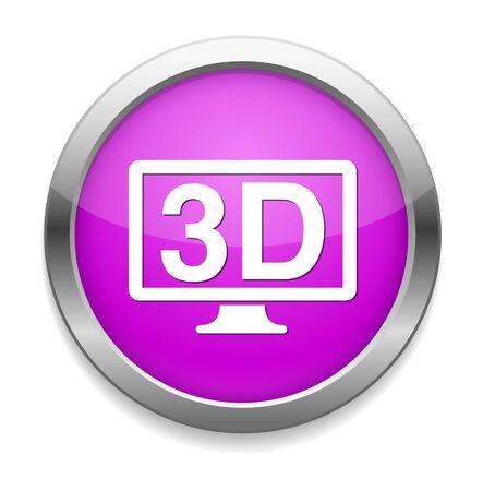 display: 3d display icon Illustration