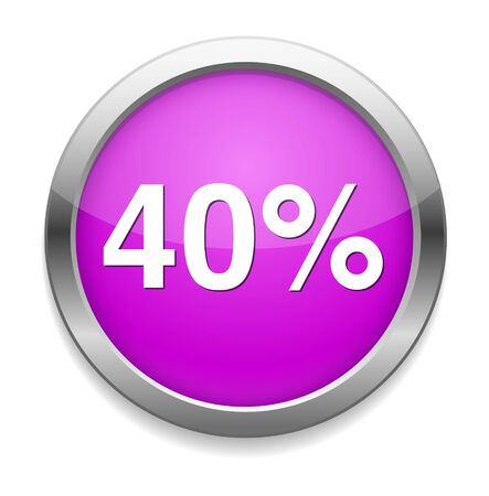 40: 40 percent icon Illustration