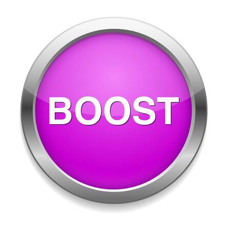 boost: boost button Illustration