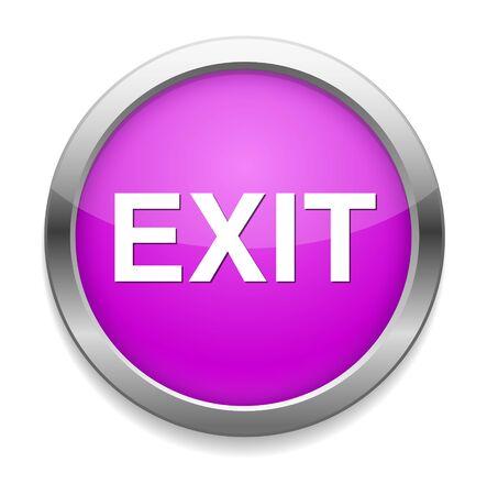 emergency exit label: exit icon Illustration
