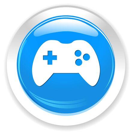 playstation: joystick icon Illustration