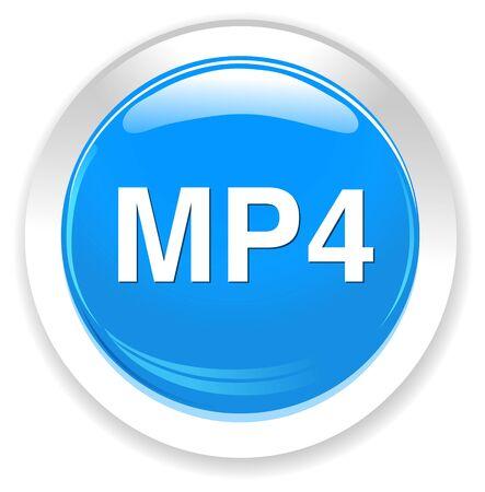 mp4: mp4  button Illustration
