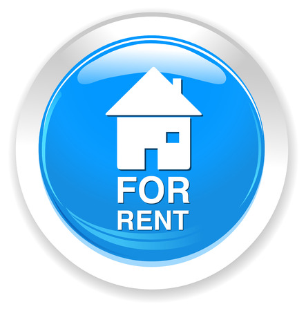 for rent sign: for rent sign button