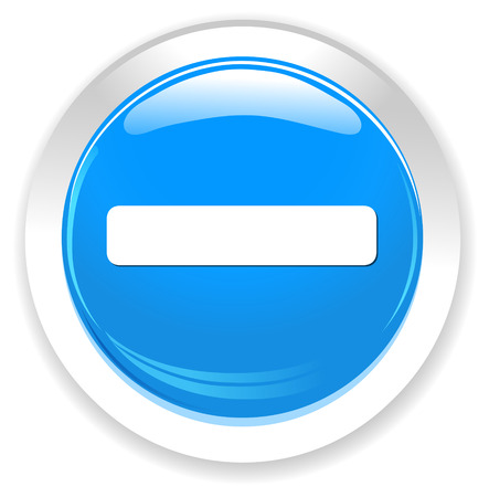negativity: minus mark sign  icon