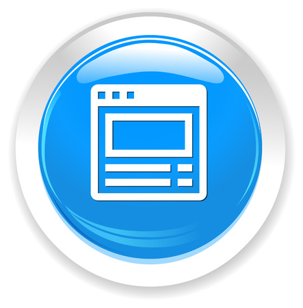 icons site search: browser window button