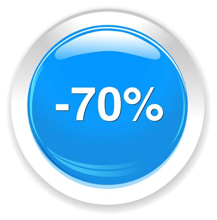 70: 70 percent off button