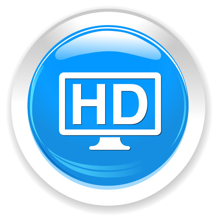 cinema screen: hd display icon