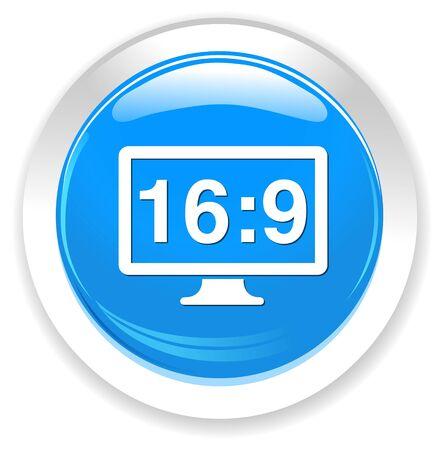 display: 16 9 display  button Illustration