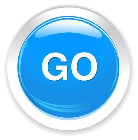 go button Illustration