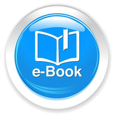 e reading: e-book  button Illustration