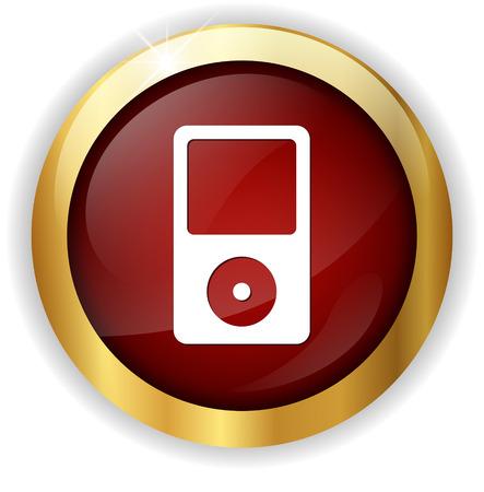 mp3: mp3 player icon Illustration