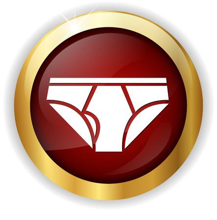 underwear: icono de la ropa interior Vectores