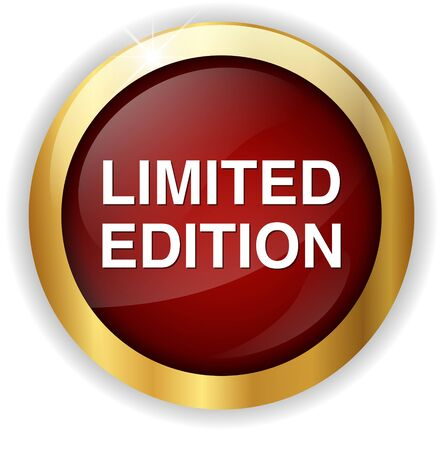 limited edition: limited edition button Stock Photo