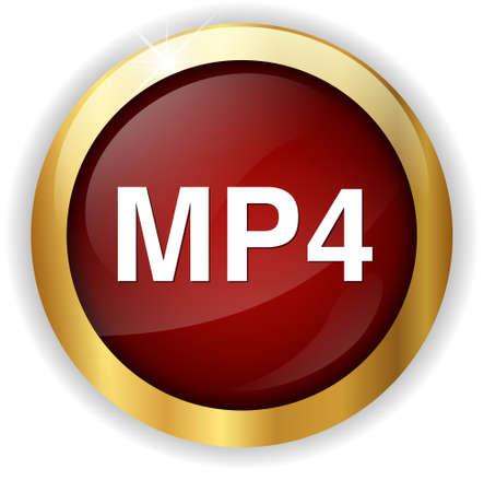 mp4: mp4  button Stock Photo