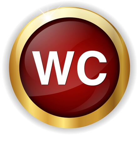 wc: wc button Stock Photo