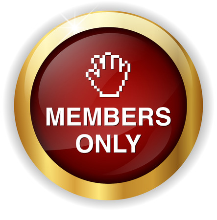 closed community: Members only button Stock Photo