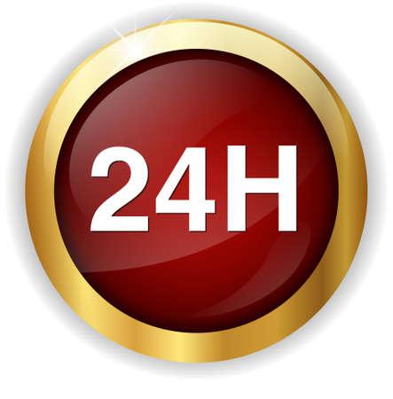 24: 24 hours  icon Stock Photo