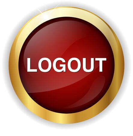 log off: logout button