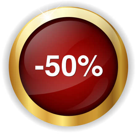 off on: 50%  percent off  button