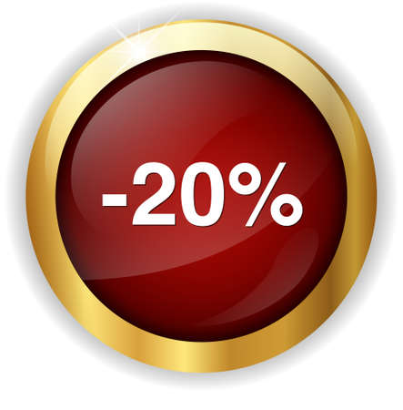 on off button: 20 percent off button Stock Photo