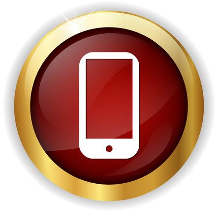 phone button: smart phone button Stock Photo