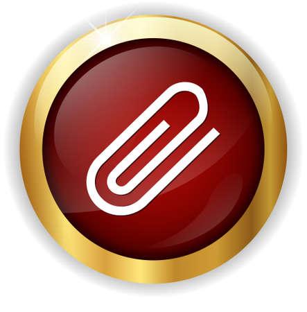 paper fastener: paper clip icon