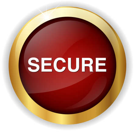 secure: secure button Stock Photo