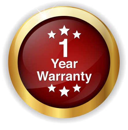 1 year warranty: 1 year warranty button Stock Photo