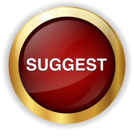 suggest: suggest button Stock Photo