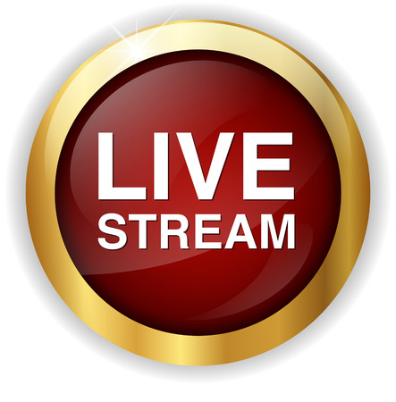 livestream: Livestream button Stock Photo
