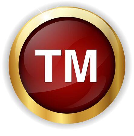 trademark: trademark button Stock Photo
