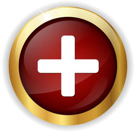 add: cross button add icon