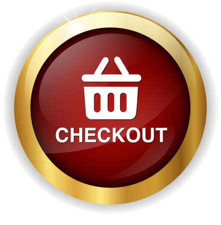 checkout: checkout button Stock Photo