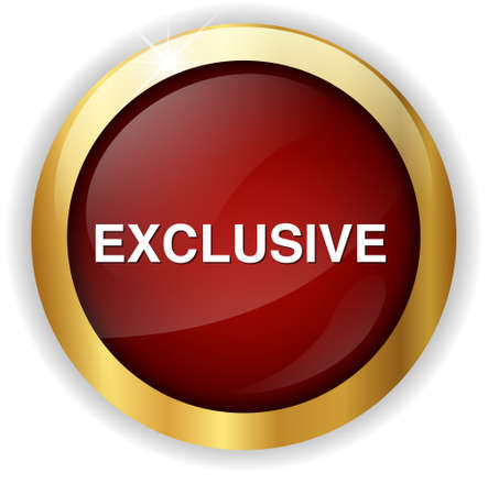 exclusive: exclusive button Stock Photo