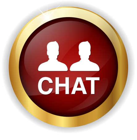 kletsen: Chat icon Stockfoto