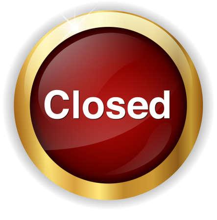 closed: Closed Button Stock Photo