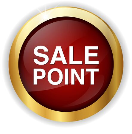 point of sale: Sale Point Button Stock Photo