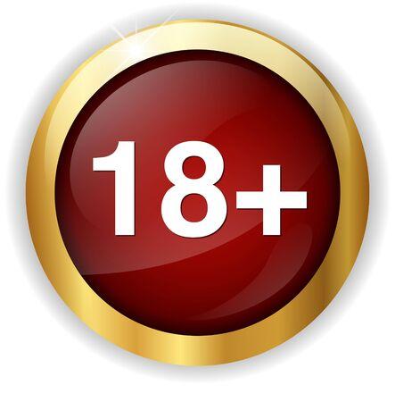 18: +18 button Stock Photo
