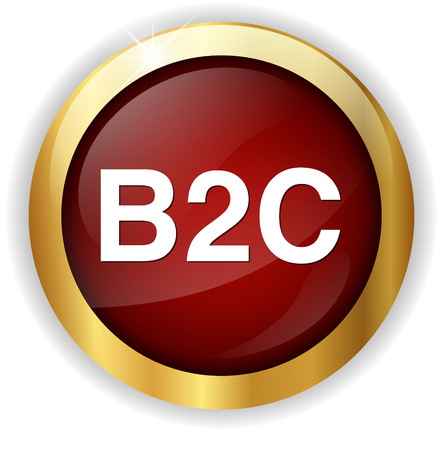 b2c: b2c ( business to consumer ) button Stock Photo