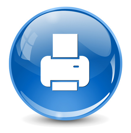 icono imprimir: Icono de impresi�n Vectores