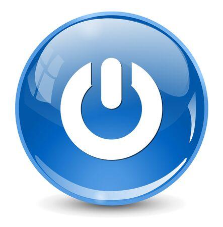 computer button: power button icon