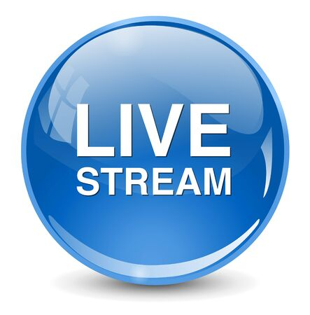 Livestream button Ilustração