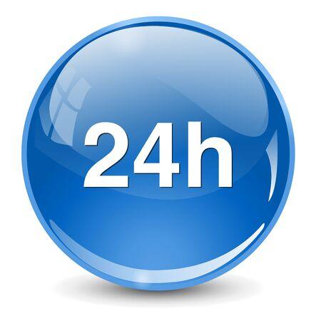 24 h icon Vektorové ilustrace