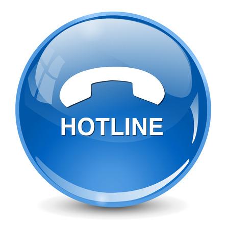 hotline knop Stock Illustratie